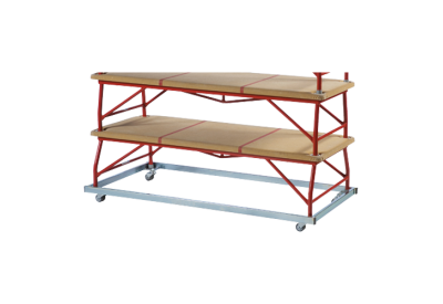 Trolley for large steel box